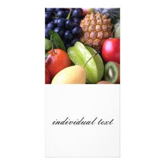 exotic fruits photo cards