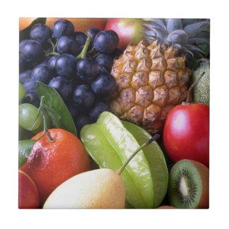 Exotic fruits ceramic tiles
