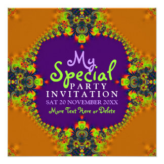 Exotic Fun Goddess Girls Party Invitation