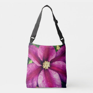 Exotic Fuschia Flower Crossbody Bag