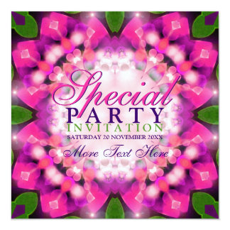 Exotic Girly Pink Purple Special Party Invitations