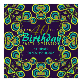Exotic Goddess Fabulous 40 Party Invitation