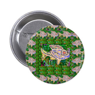 Exotic GOLD Fish Artistic work by Navin Joshi GIFT 6 Cm Round Badge