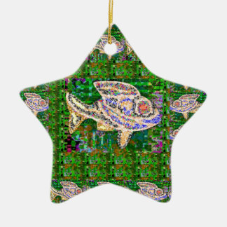 Exotic GOLD Fish Artistic work by Navin Joshi GIFT Christmas Tree Ornaments