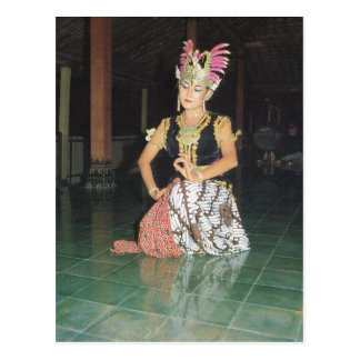 Exotic Golek dancer from Indonesian Postcard