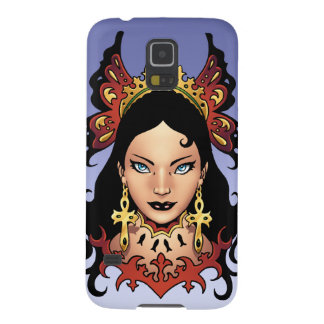 Exotic Gothic Queen with Ankh Earrings by Al Rio Galaxy S5 Covers