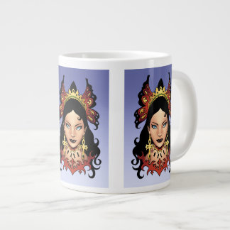 Exotic Gothic Queen with Ankh Earrings by Al Rio Jumbo Mug