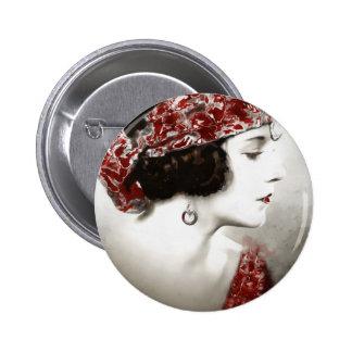 Exotic Gypsy Girl 6 Cm Round Badge