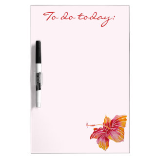 Exotic Hawaiian Floral Dry Erase Board