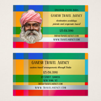 Exotic India Travel Agency Photo Business Card
