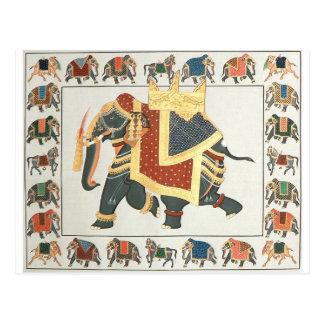 EXOTIC INDIAN ELEPHANT ARTWORK POSTCARD