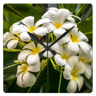 Exotic Island Plumeria Clock