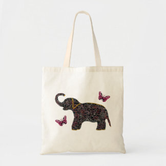 Exotic Jewel Elephant Canvas Bag