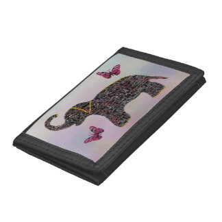 Exotic Jewel Elephant Tri-fold Wallet