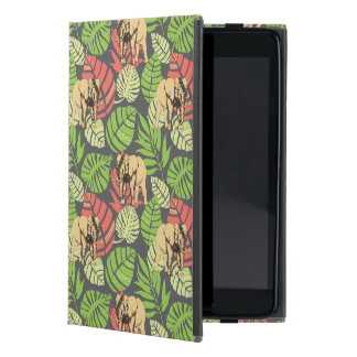 Exotic Jungle Leaves And Elephants Case For iPad Mini