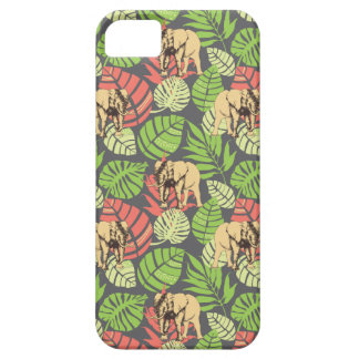 Exotic Jungle Leaves And Elephants iPhone 5 Covers