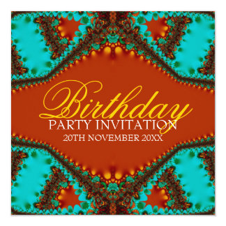 Exotic Lace Butterfly Birthday Invitations
