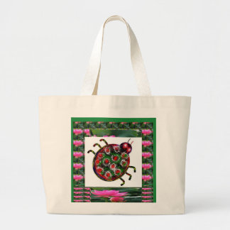 EXOTIC Ladybug Graphic Art Tote Bags