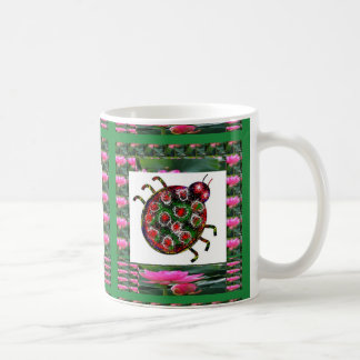 EXOTIC Ladybug Graphic Art Basic White Mug