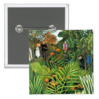 Exotic Landscape   (Paysage Exotique) 15 Cm Square Badge