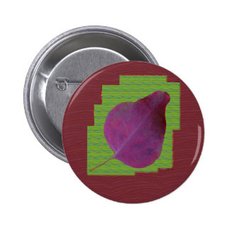 EXOTIC Leaf Purple Artistic Surface Shade LOWPRICE 6 Cm Round Badge