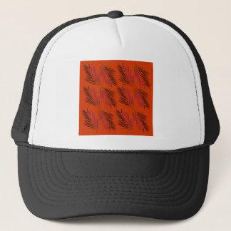 Exotic leaves brown trucker hat