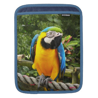 Exotic Macaw Parrot iPad Sleeve