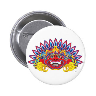 Exotic mask 6 cm round badge