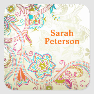 Exotic Mehndi Book Label / Gift Tag Sticker
