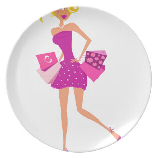 EXOTIC MODEL GIRL Creative t-shirts Plate