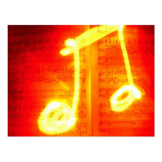Exotic Music Note Postcard