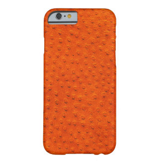 Exotic Orange Ostrich Leather iPhone 6 Case