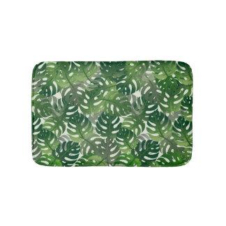 Exotic Palm Leaf Design Bath Mat