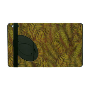 Exotic palm leaves jungle pattern iPad case