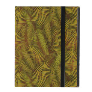Exotic palm leaves jungle pattern iPad cover