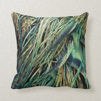Exotic Peacock Feathers Cushion