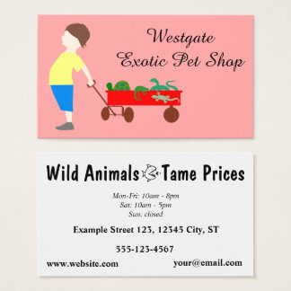Exotic Pet Store - Pet Shop Business Card
