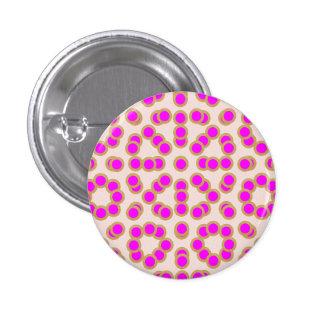 EXOTIC Pink Dot Matrix : Pattern Jewel 3 Cm Round Badge