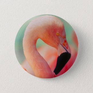 Exotic Pink Flamingo Bird Button