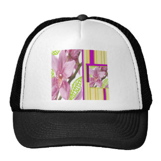 Exotic pink flowers cap