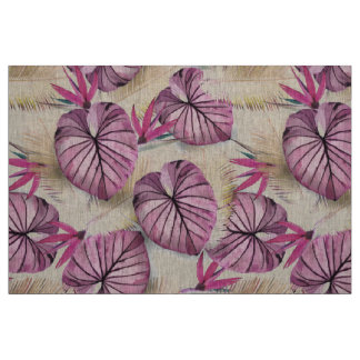Exotic plants fabric