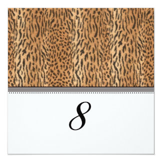 Exotic Print Animal Skin Reception Table Number Card