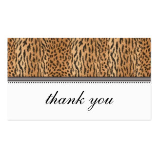 Exotic Print Animal Skin Thank You Card Business Cards