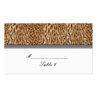 Exotic Print Animal Skin Wedding Placecard Business Cards