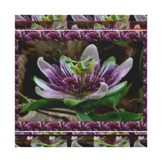 Exotic Purple Flower - Floral Decorations FUN Canvas Prints