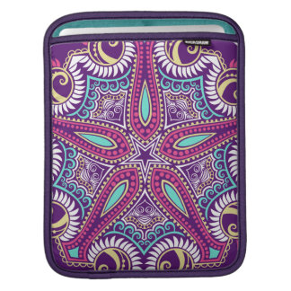 Exotic Purple Fractal mandala starfish ornament iPad Sleeve