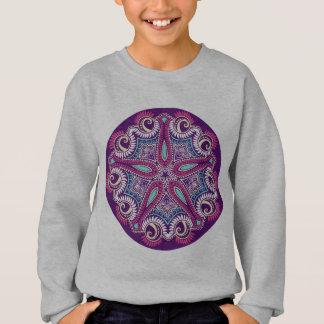 Exotic Purple Fractal mandala starfish ornament Sweatshirt