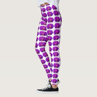 EXOTIC PURPLE ORCHID leggings