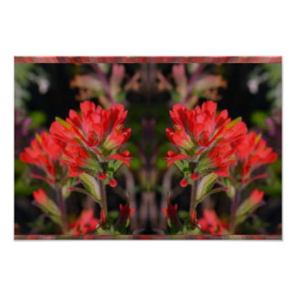 Exotic Red Flower Bunch - High Energy Decorations Poster