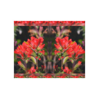 Exotic red Flower - Floral Decorations FUN Gallery Wrapped Canvas